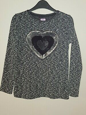 Girls sparkly Christmas top/ jumper 10-11 years