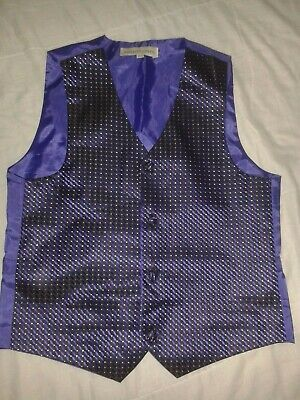 Boys Age 11-12 Years Paisley Of London Purple And Black With Silver Waistcoat