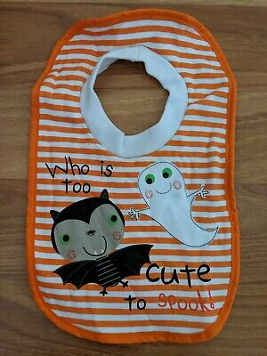 Tu Halloween Baby Bib 'Who Is Too Cute To Spook'