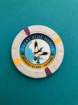 Great Blue Heron Casino Chip Port Perry Canada