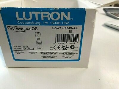 Lutron Hqwa-Kp5-Dn-Bl (New In Box)