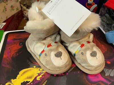 The little white company bear boot Slippers 6-12 Monthsnew with tags rrp£22