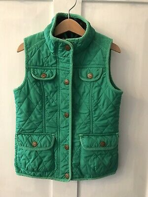 Next Girls Gilet Body Warmer Green Size 5-6 Y