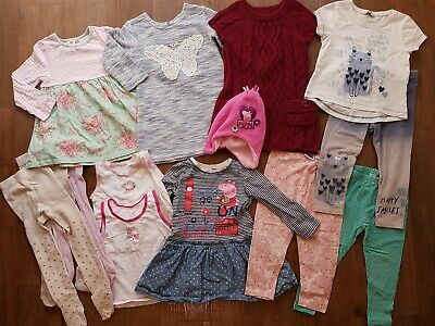 Including 5 PEPPA PIG items, Bundle of 14 pieces Girls Clothes aged 2-3 years.