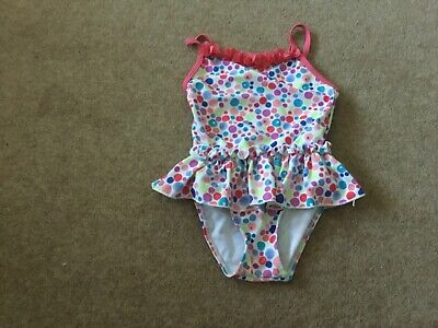 lovely BHS spotty swiming costume size 18-24 months