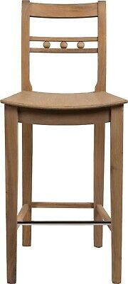 Neptune Suffolk seasoned solid oak bar stools bar stools, high back chair.