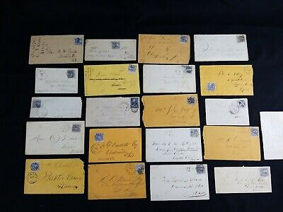 ESTATE Lot Of RARE 19th Century Early US Stamps Covers (lot 35) See Pics