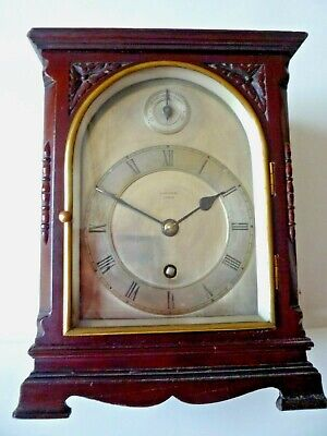 Gillett and Johnston Bracket Clock with 11 Jewel Swiss Escapement