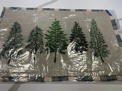 """Pottery Barn Forest Trees Lumbar Complete Pillow~NWT 16x26"""""""