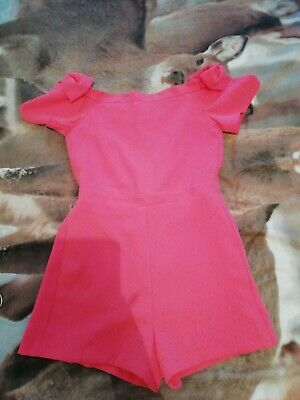 Girls Pink River Island Playsuit Age 11-12 Years