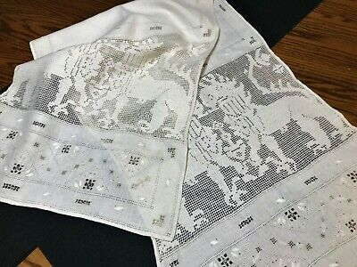 Turn of the Century Table Runner Griffons Buratto Lace +