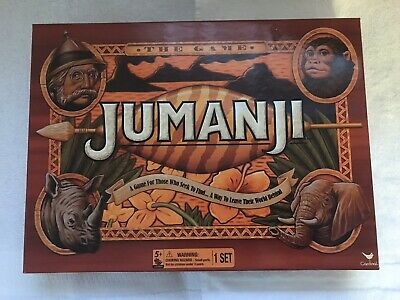 Cardinal Board Games Jumanji the Game Action - Used 100% Complete With Rhino
