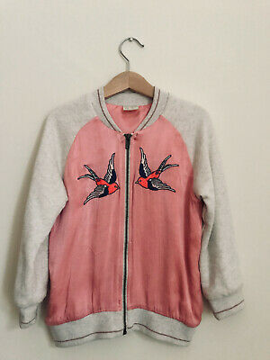 Zara Girls College Style Oriental Bomber Jacket Coat Age 6 Years 116cm