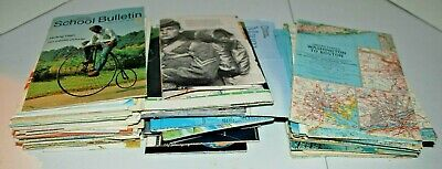 Large 86 lot of National Geographic Magazine Maps and Inserts! Vintage