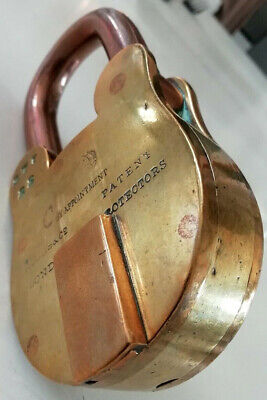 Fine old HOBBS 'Patent Protectors' Padlock, with extended bronze shackle.