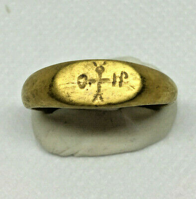 Roman Ancient Gold Plated Ring- R001G
