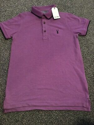 boys brand New With Tags Next Polo Shirt, Age 10, Purple With Navy Detail
