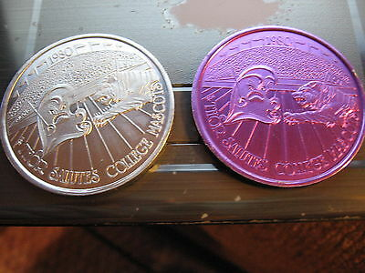 set 4 LSU TIGERS tulane mascots Doubloon 1980 mardi gras rare new orleans SALE