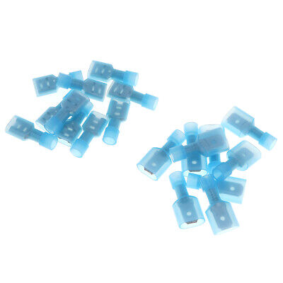 50PCS Fully Insulated Blue Male&Female Electrical Spade Crimp Connector Terminal