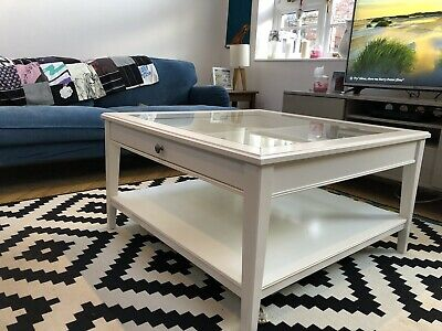 Ikea Liatorp White And Glass Coffee Table 4200 Picclick Uk