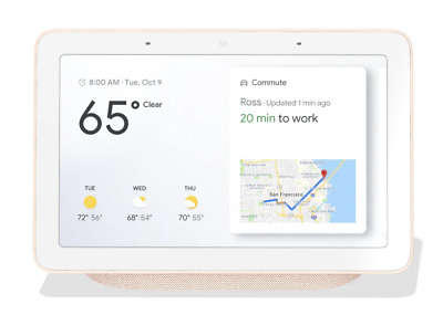 Google Nest Hub with Built-In Google Assistant, Sand (GA00517-US)