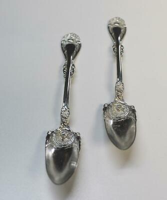 2 Antique Wm. A. Rogers A1 Silver-Plated Fruit/Orange Spoons, Elberon Pattern?