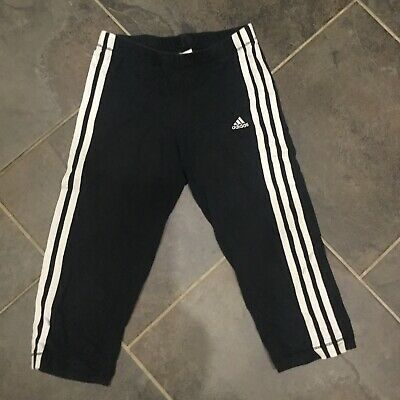 Girls Adidas Cropped Joggers Aged 11-12 Years