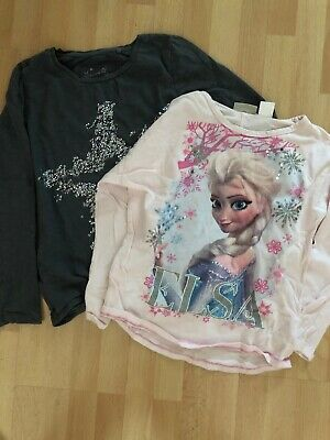Next Girls Long Sleeve T-shirts Pink/grey One Frozen Age 8 Yrs