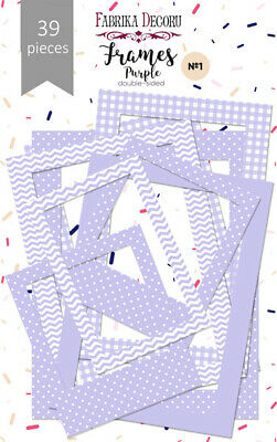 Pack of 39 Lilac Photo Frames for cardmaking and scrapbooking - various sizes