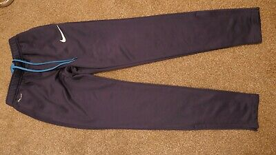 Blue NIKE Dri Fit Tracksuit Bottoms - Size Small