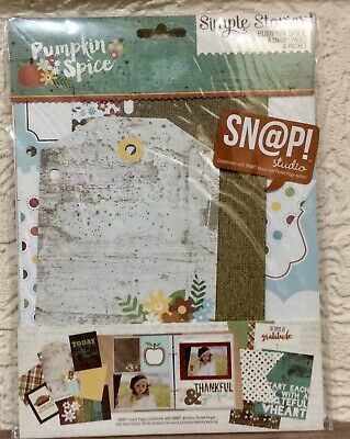 New Simple Stories Sn@p Pages & Pocket 'PUMPKIN SPICE'