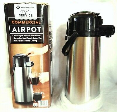 Member's Mark Stainless Steel Commercial Airpot 74.4 oz. (2.2 L)