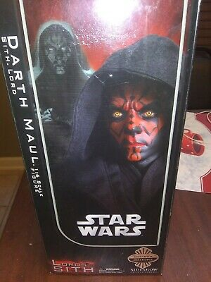 """Sideshow Collectibles Star Wars 12"""" 1:6 Scale Figure Darth Maul Sith Lord EUC"""