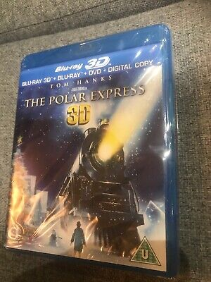 The Polar Express 3D (real 3D Blu-ray) Sealed Christmas Tom Hanks
