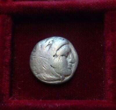 ALEXANDER III The GREAT AR Drachm circa 336-323 BC. Herakles_Zeus seated