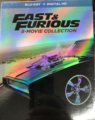 Fast and Furious: 8-Movie Collection (Blu-ray Disc, 2017, 9-Disc Set) NEW Sealed