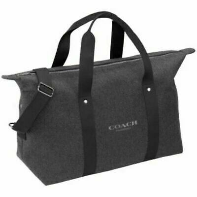 COACH Men's Women's Grey WEEKENDER Gym CARRY-ON Travel Overnight DUFFLE Bag NWT!