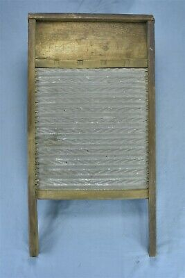 Antique 1918 NATIONAL RED CROSS WASHBOARD DOUBLE FLIP TOP LAUNDRY ZINC RARE 8355