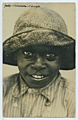 1909 RP POSTCARD YOUNG ABORIGINE JACKY OODNADATTA CHAS SCOTT PHOTO of UNLEY G65