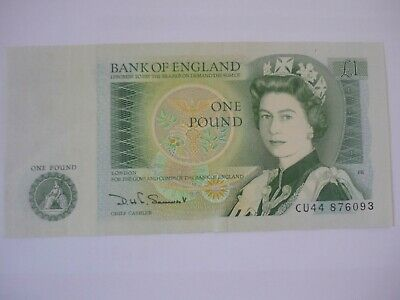 Bank of England One Pound Note Somerset Uncirculated