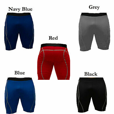 Men's Compression Base Layer Thermal Sports Fitness Jogging Half Tights Shorts