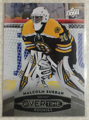 15-16 UD Overtime Rookie #51 Malcolm Subban-Las Vegas Golden Knights-Bruins RC