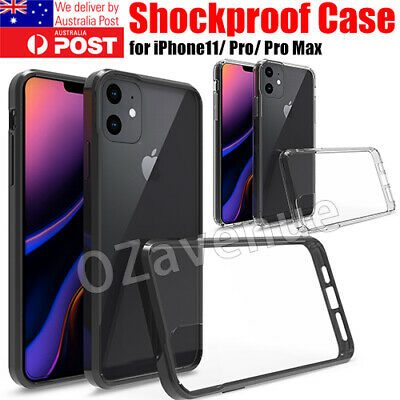 For iPhone 11 XS Max XR Case Shockproof Crystal Clear TPU Silicon Bumper Cover