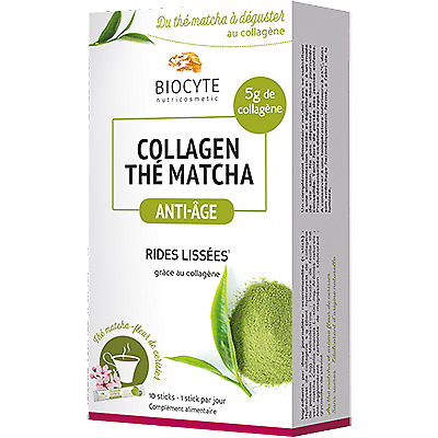 BIOCYTE Collagen Thé Matcha 10 sticks Anti-Age - Rides lissées