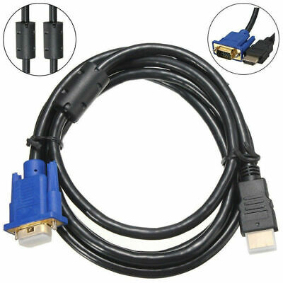 1.8M HDMI Male to VGA Video Converter Adapter Cable Cord for PC DVD 1080P HDTV