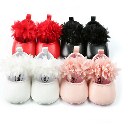 Newborn Infant Cute Baby Girl Princess Floral Fashion First Walkers Casual Shoes