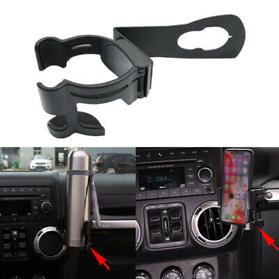Dash Hanging Cup Bottle Phone Holder Mount Bracket For Jeep Wrangler JK 18-19 1x