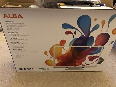 """ALBA 24"""" LED LCD HD Ready TV With Built-In Freeview & DVD Player HDMI USB Record"""