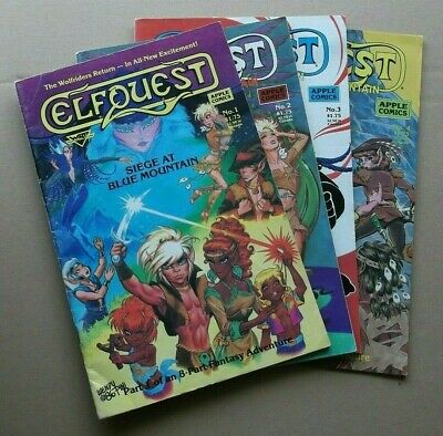 💥1986 APPLE COMICS ELFQUEST SEIGE at BLUE MOUNTAIN #'s 1-4  by WENDY PINI