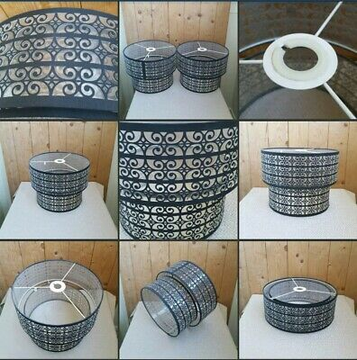 *Used* 2 Lovely Modern Art Deco ♡LAMPSHADES♡ Ceiling~Desk~Tiered~Decorative Pair